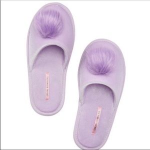 VS Purple Pom Pom Slippers